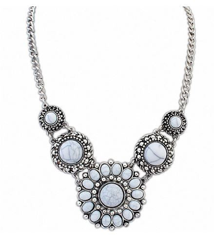Bohemian Vintage Turquoise Statement Necklace