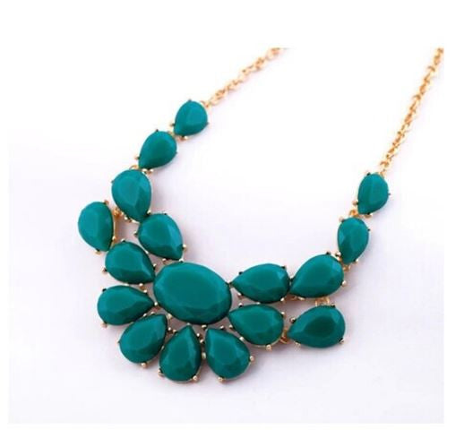 Free Green Fashion Statement Necklace