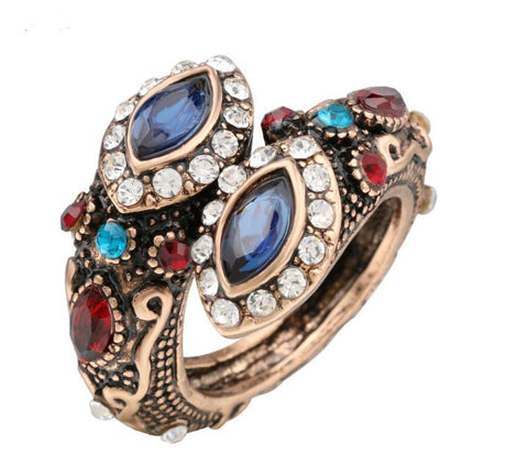 Unique Double-Head Tribal Design Ancient Women's Ring OFFER