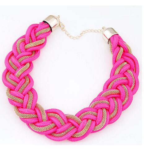 Trendy Fashion Statement Choker Necklace Handmade Woven