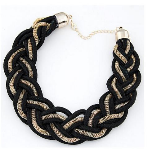 Trendy Fashion Statement Choker Necklace Handmade Woven OFFER