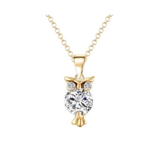 Trendy Maxi Owl Collier Bijoux Necklace