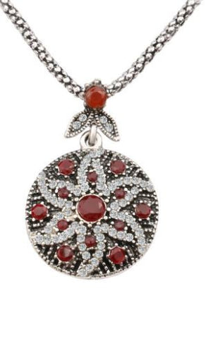 Red Bohemian Vintage Mosaic Crystal Jewelry