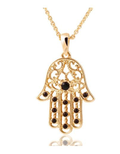 The Hand of Fatima Hamsa Statement Necklace