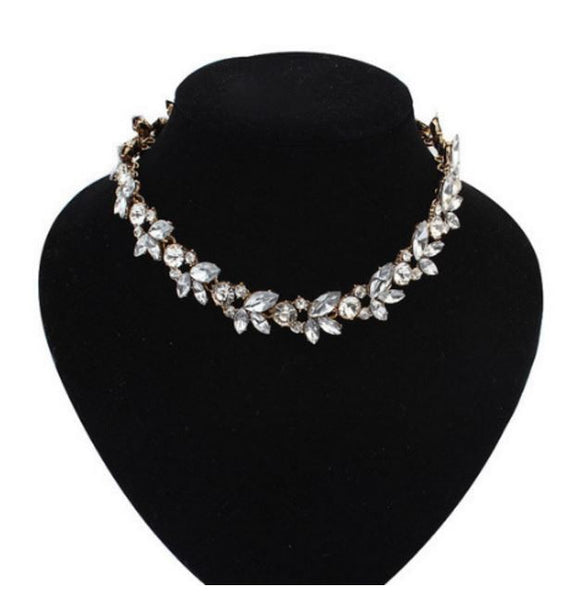 Trendy Rhinestone Choker Necklace OFFER