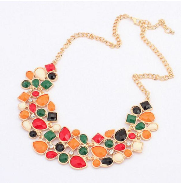 Bohemian Link Chain Statement Necklace
