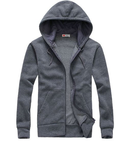 Men's Long Sleeved Cotton Casual Hoodies (Cardigan)