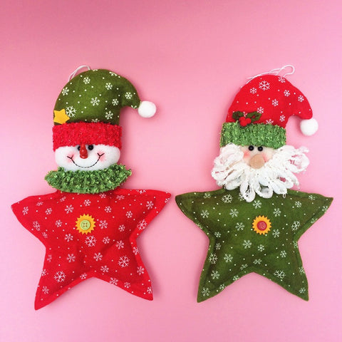 Red Christmas Tree Hanging Doll Decorations