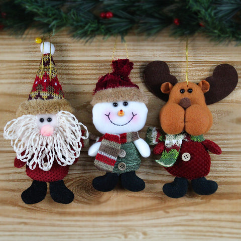 Brown Christmas Tree Hanging Ornaments