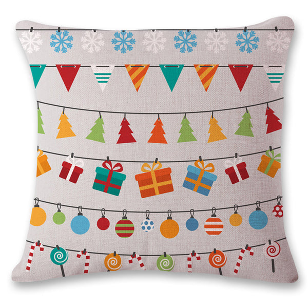 Grey Christmas Classic Pillow Cover Cases