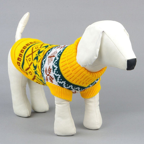 Cozy Snowflakes Designed Warm Sweater for Dogs and Cats
