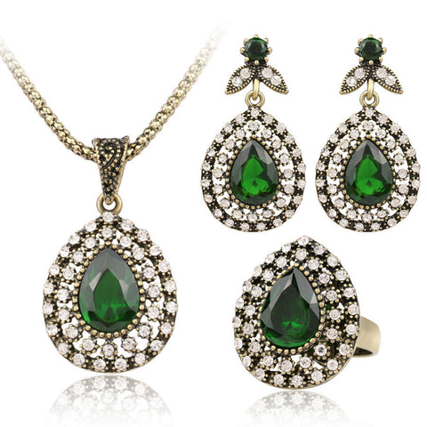 Bohemian / BOHO Jewelry Set (Earrings, Ring & Necklace) For Women OFFER