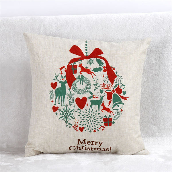 Wreath Christmas Cute Pillow Cover Cases