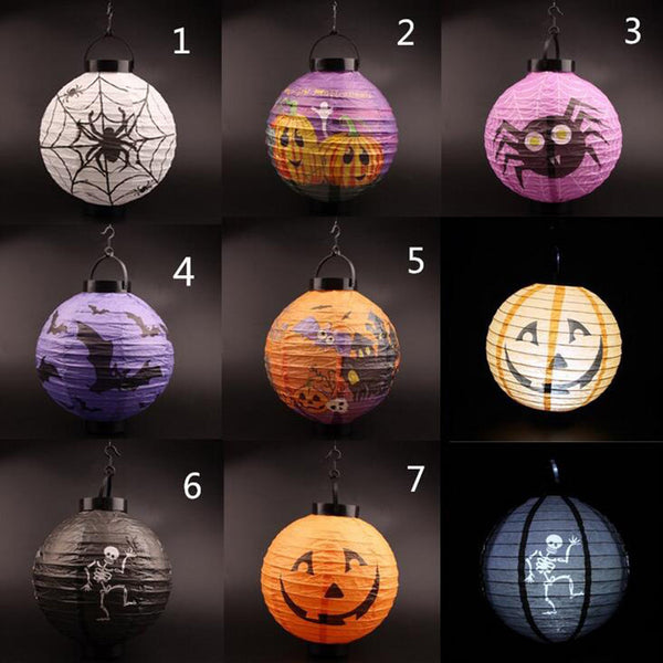 Grey Halloween 1 Piece Hanging Lantern Decoration