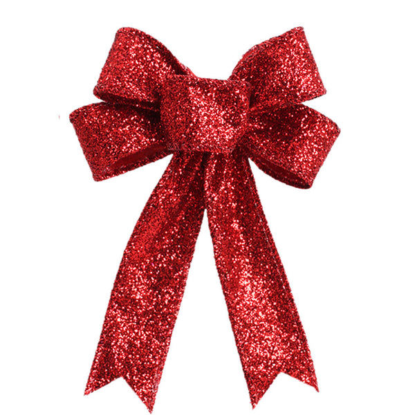Red Christmas Tree Bow Knot Ornamental Decorations