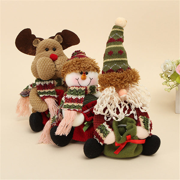 Free Brown Christmas Table and Shelf Standing Doll Decorations