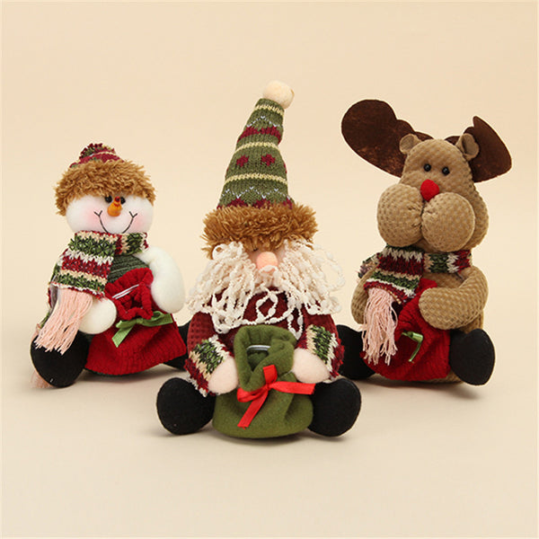 Santa Christmas Table and Shelf Standing Doll Decorations