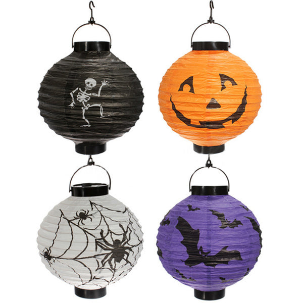 White Halloween 1 Piece Hanging Lantern Decoration