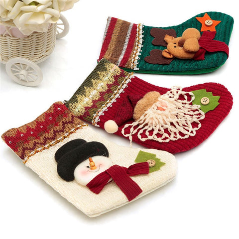 White Christmas Sock Festival Wall Hanging Decoration