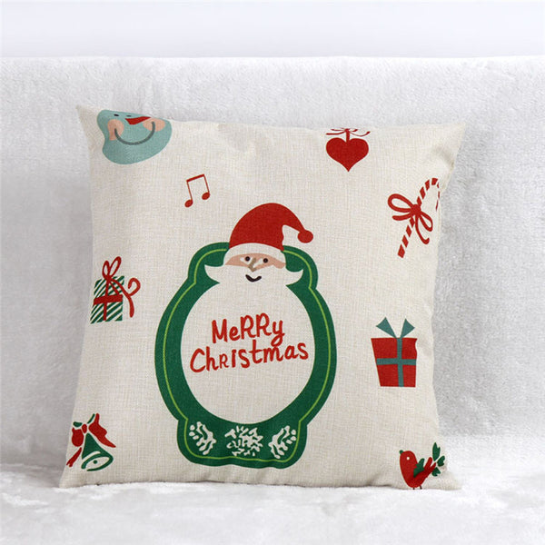 Santa Christmas Cute Pillow Cover Cases