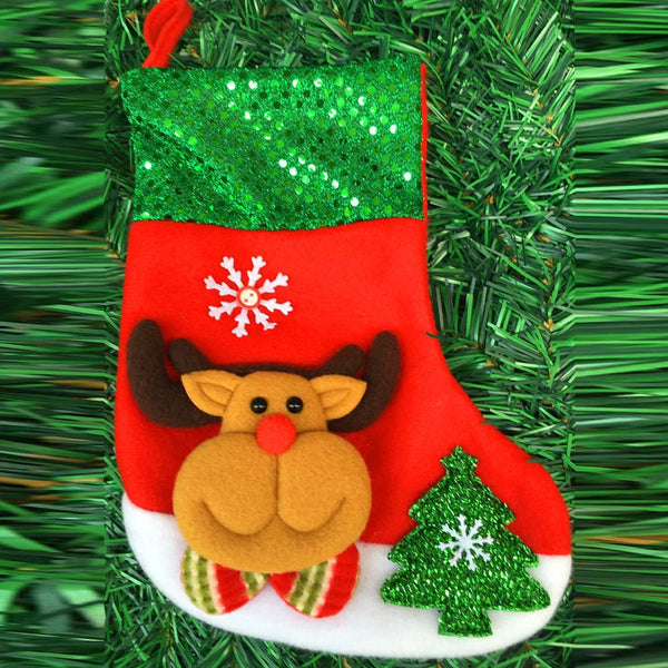 Green Christmas Sock Stocking Wall Hanging Decoration