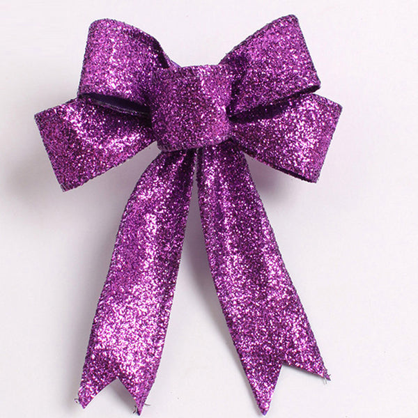 Purple Christmas Tree Bow Knot Ornamental Decorations