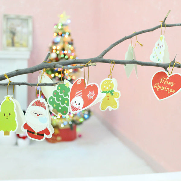 Christmas Tree Paperboard  Card Ornament