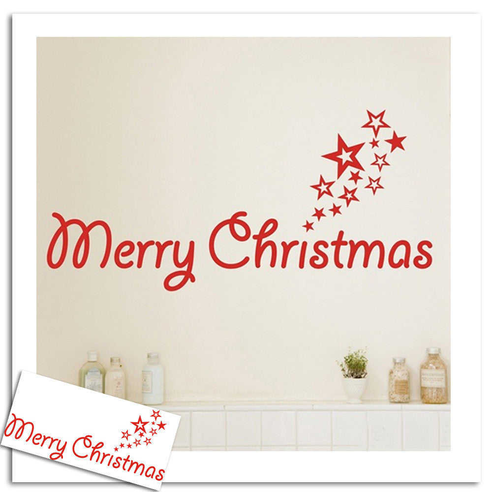 Christmas Home Wall Sticker Decoration OFFER