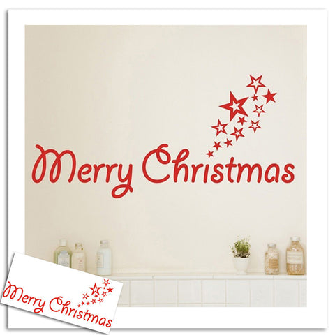 Grey Christmas Home Wall Sticker Decoration