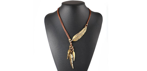 Vintage Feather Statement Necklace OFFER