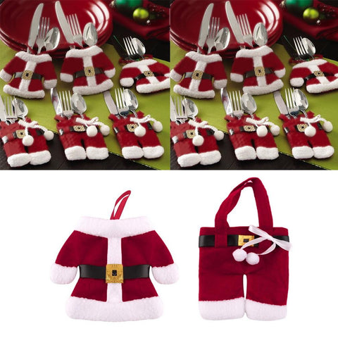 Christmas Decoration Supplies Cutlery Holders