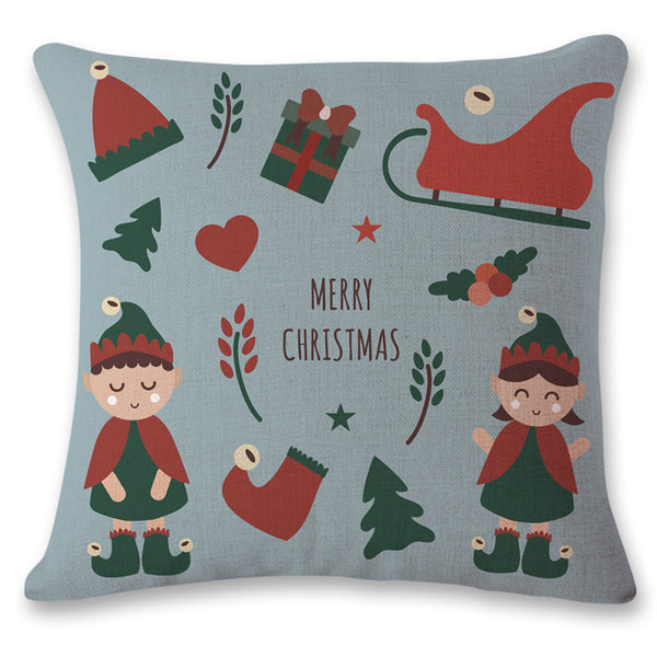 Free Blue Christmas Classic Pillow Cover Cases