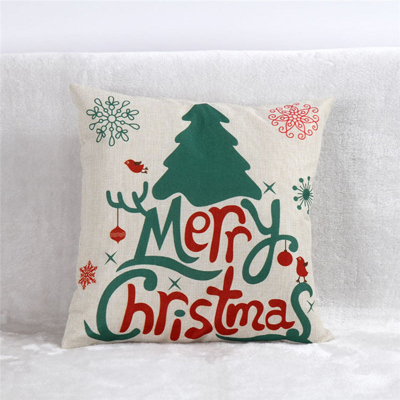 Grey Christmas Cute Pillow Cover Cases