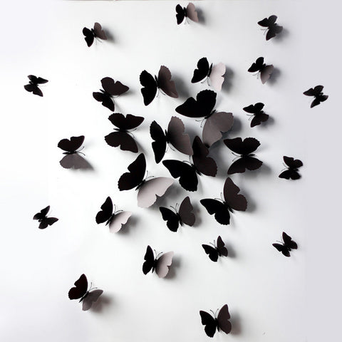 New Creative Butterfly 3D wall stickers / Refrigirator Magnets