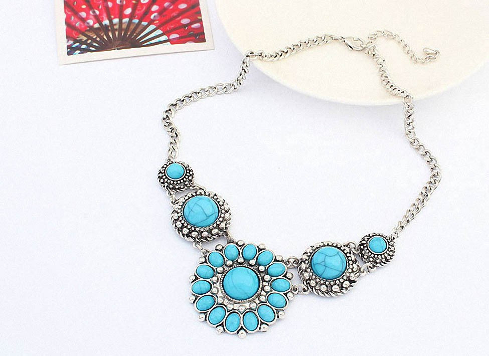 Bohemian Vintage Turquoise Statement Necklace OFFER