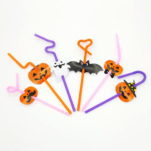 Halloween Theme Drinking Straws (6 Designs)