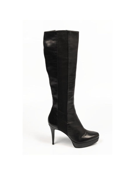Sebastian Milano ladies high boot S4659 VIT NO GOLDEN NERO