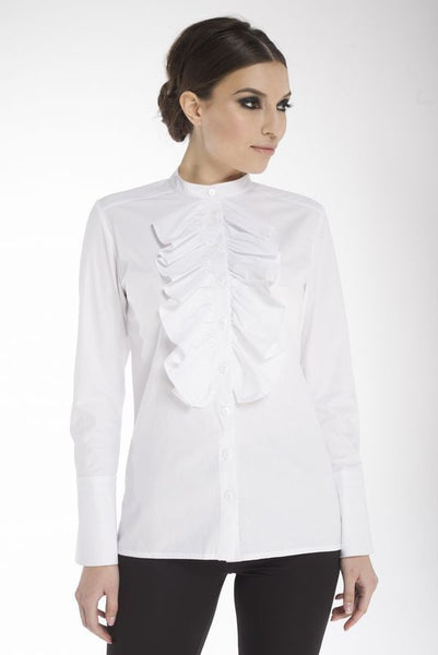 Arefeva Long-Sleeve Ruffle Blouse