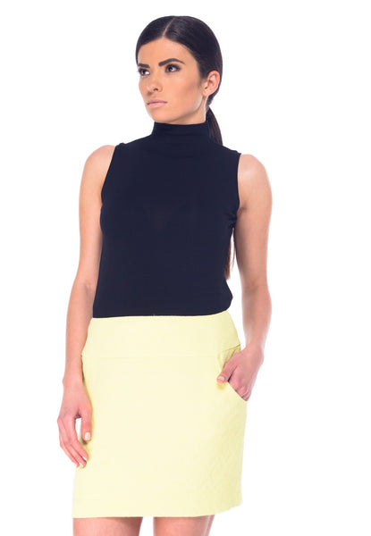 Arefeva Yellow Pocket Skirt