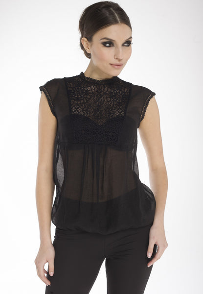 Arefeva Black Laura Blouse