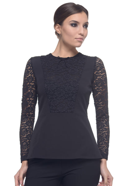 Arefeva Black Hayley Blouse