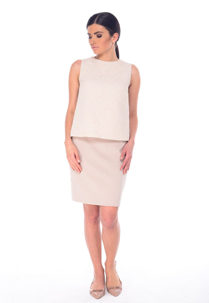 Arefeva Beige Pencil Skirt