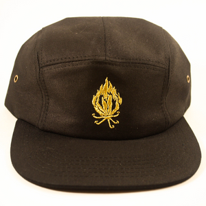 Golden Flame Lily Five Panel Cap