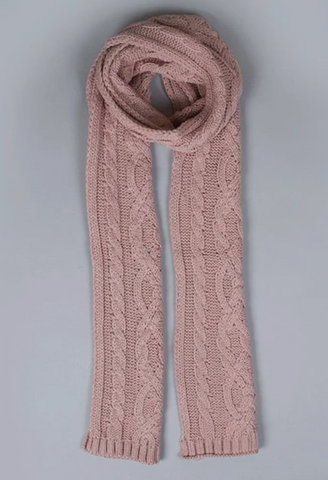 Dents Metalic Cable Knit Scarf 4-2837
