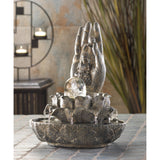 Indoor Buddha Cascading Fountain - Zen Tabletop Water Fountain - Interior Design Genie