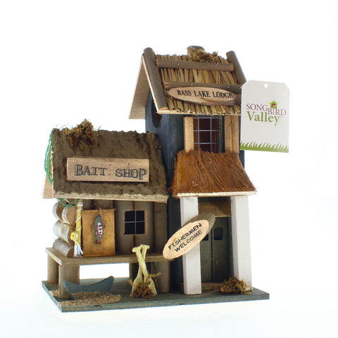 Bass Lake Lodge Wood Bird House, Home & Garden > Decor > Bird & Wildlife Houses > Birdhouses,Interior Design Genie ,