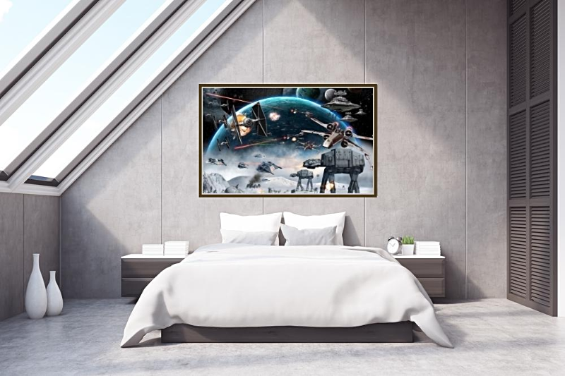 Galaxy Star Wars Inspired Mural 3D Custom Photo WallPaper Kidu0027s Room KTV  Backdrop Wallpaper For Walls
