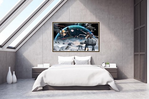 Galaxy Star Wars Inspired Mural 3D Custom Photo WallPaper Kid's Room KTV Backdrop Wallpaper For Walls., Home & Garden > Decor > Wallpaper,Interior Design Genie ,