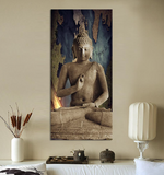 Buddha painting Large 3D effect seated meditating Buddha, canvas,Interior Design Genie ,