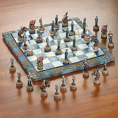 America Civil War Executive Chess Set.Free shipping In USA - Interior Design Genie